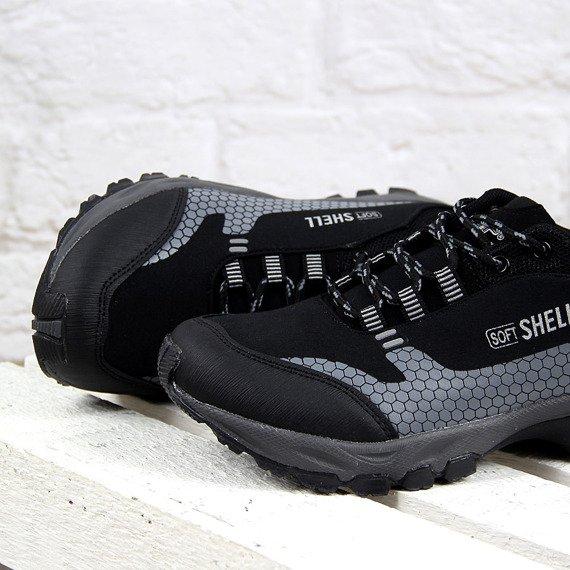 Czarno szare sportowe buty trekkingowe Wishot