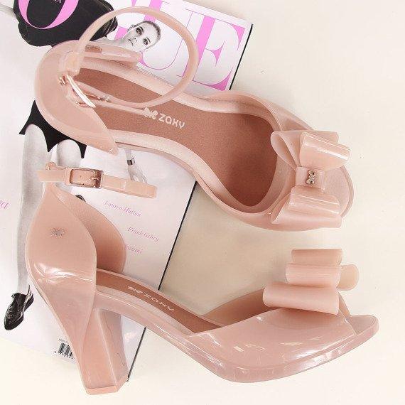 Sandały damskie gumowe meliski brudny róż Zaxy Diva Top