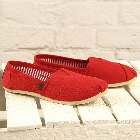 Czerwone tenisówki tomsy wsuwane Wishot