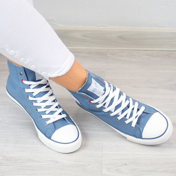 Niebieskie trampki wysokie Big Star T274031