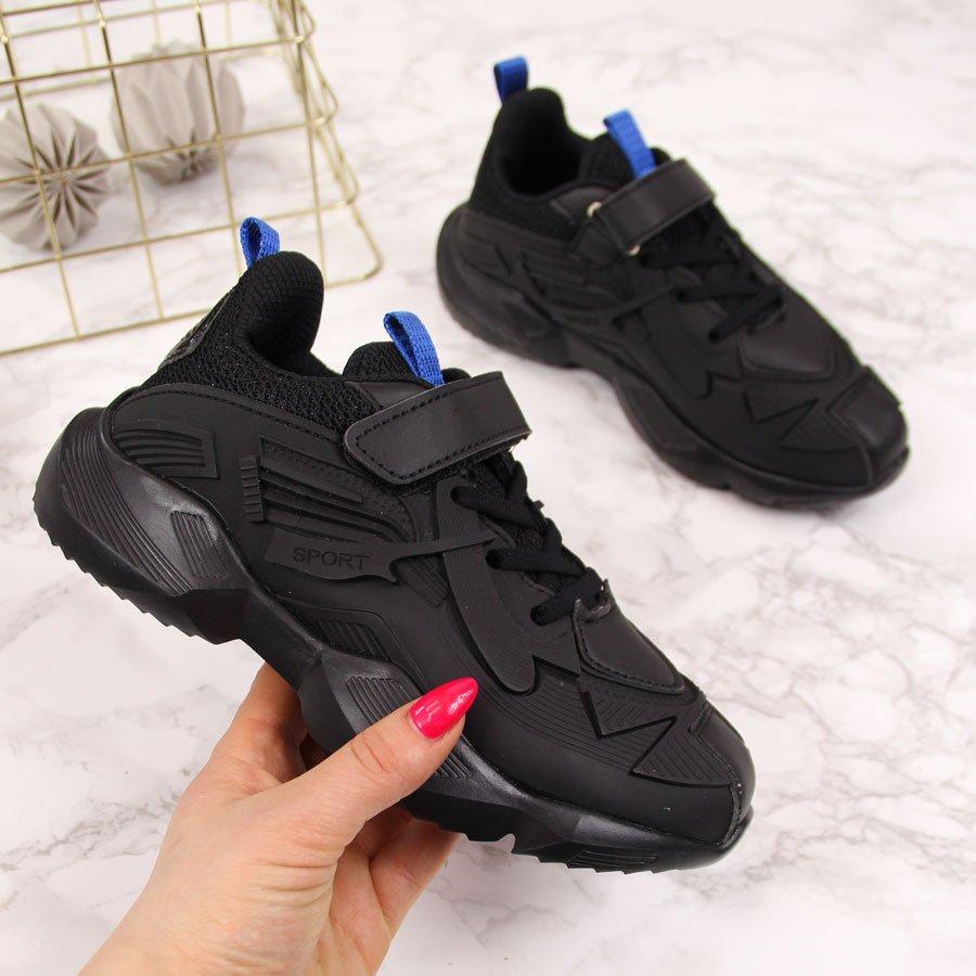 Buty sportowe dziecięce na rzepy czarne American Club