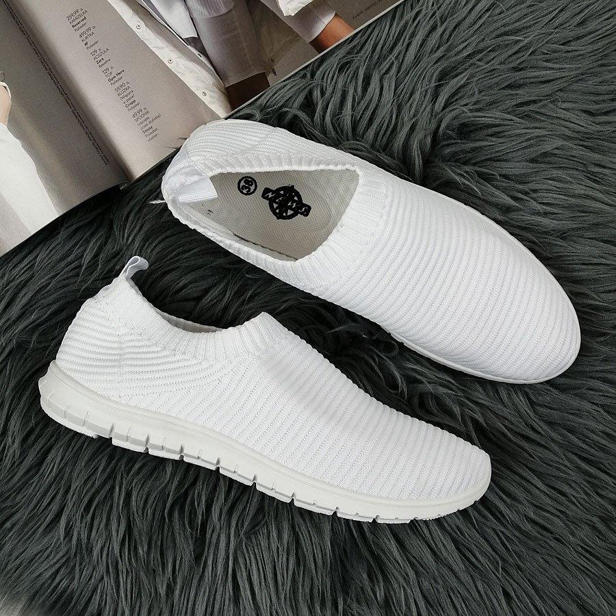 Buty sportowe damskie slip on białe N.E.W.S. biały