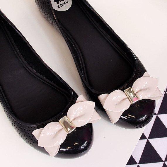 Baleriny gumowe czarne Zaxy New Pop Beauty