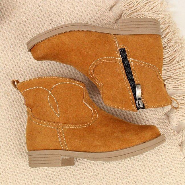 Botki dziewczęce kowbojki camel Kornecki 6501