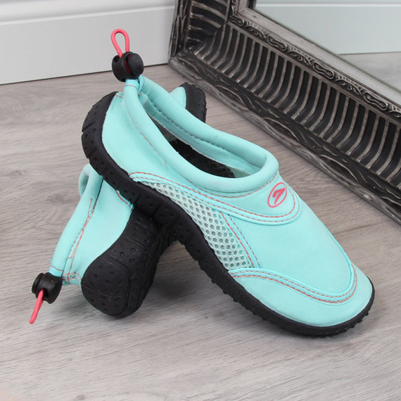 Buty dziecięce do wody na gumkę miętowe Galop