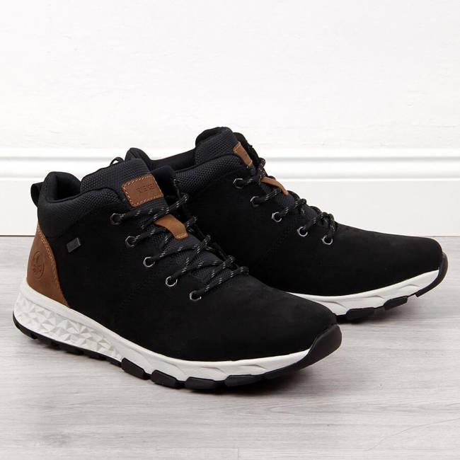 Buty skórzane męskie czarne Rieker B6740-00