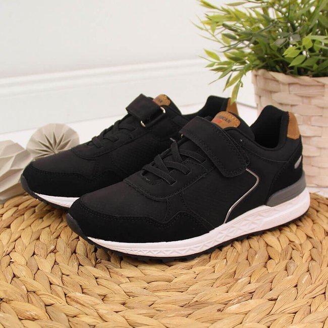 Buty sportowe chłopięce na rzep czarne American Club