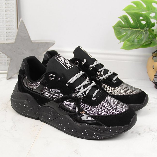 Buty sportowe damskie na platformie czarne Big Star HH274325