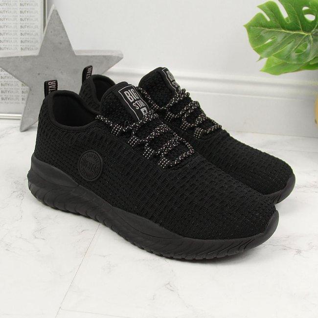 Buty sportowe damskie skarpetkowe czarne Big Star HH274298