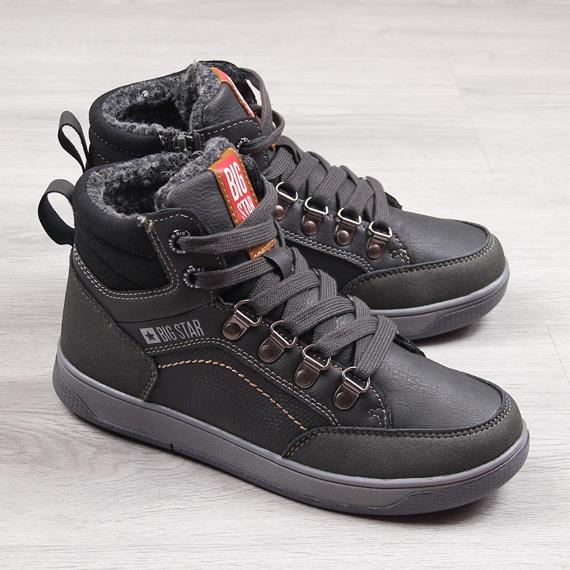 Buty sportowe dziecięce ocieplane szare Big Star EE374086