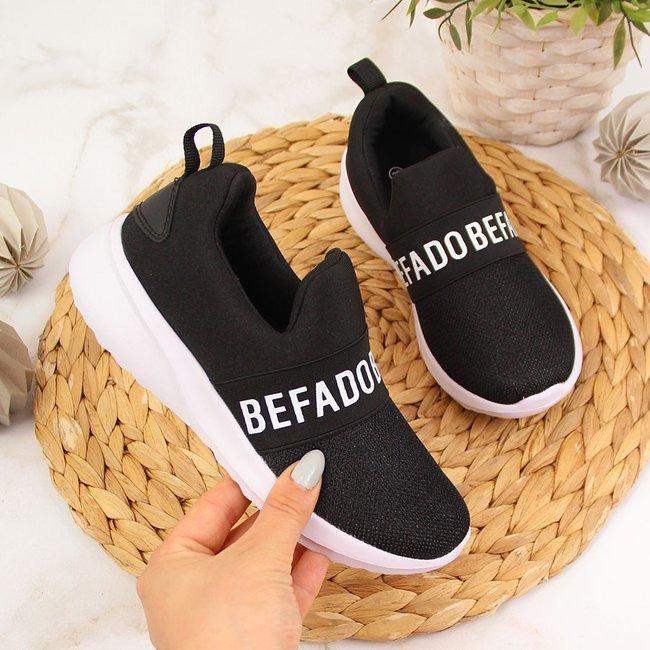 Buty sportowe dziecięce slip on Befado czarne