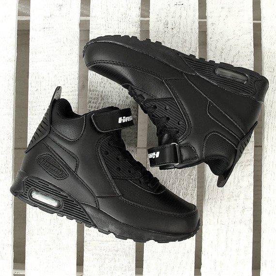 Buty sportowe dziecięce wysokie czarne Hasby