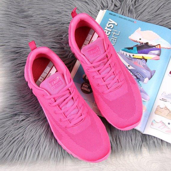 Buty sportowe lekkie przewiewne różowe Big Star