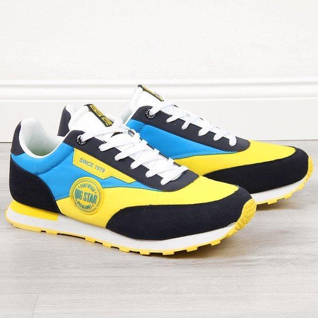 Buty sportowe męskie casual żółte Big Star HH174249