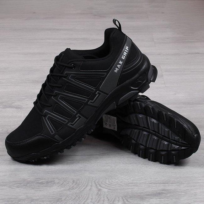 Buty sportowe męskie trekkingowe nadwymiar czarne McBraun