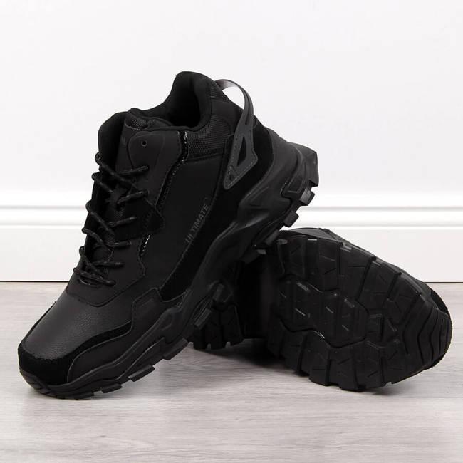 Buty sportowe męskie wysokie czarne Filippo