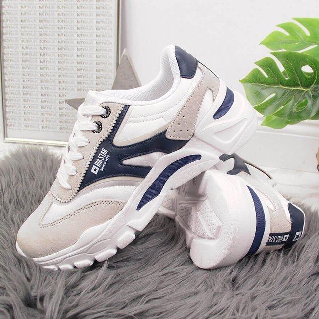 Buty sportowe na platformie białe Big Star HH274335