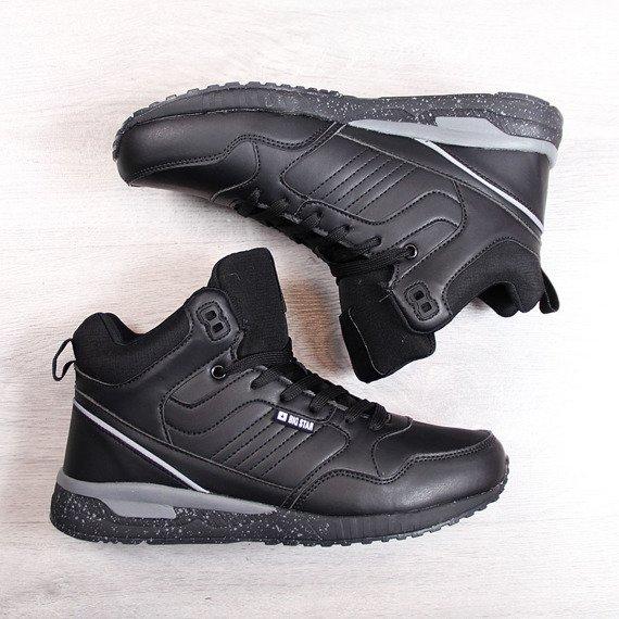 Buty sportowe ocieplane czarne Big Star BB274639