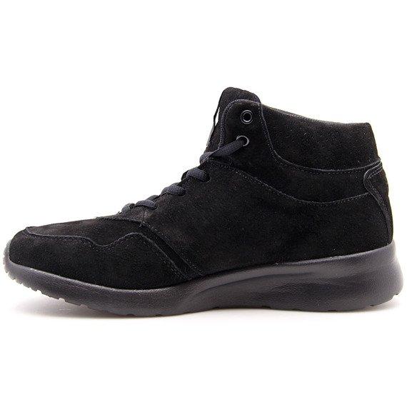 Buty sportowe skórzane ocieplane czarne Big Star BB274635