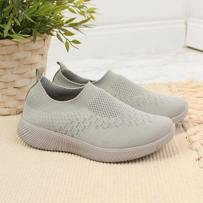 Buty sportowe tekstylne dziecięce slip on szare N.E.W.S.