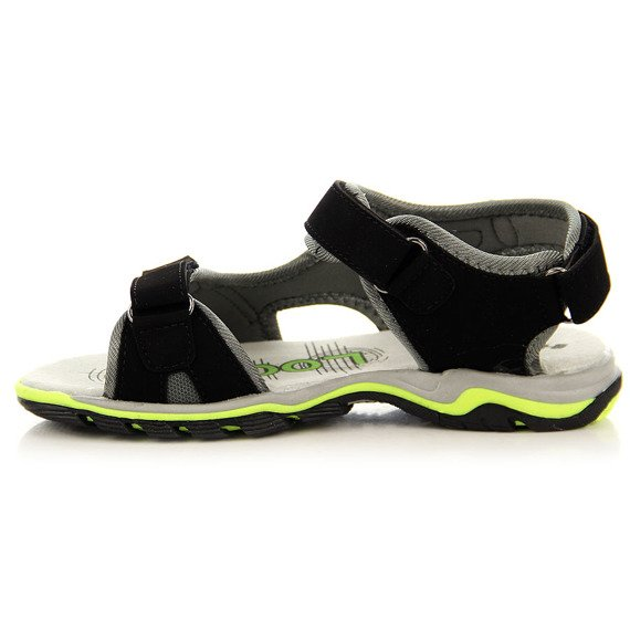 Czarne sandały dziecięce na rzepy Hasby