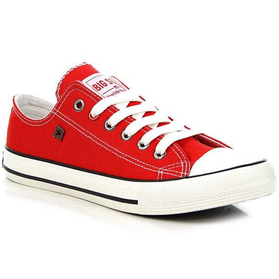 Czerwone tenisówki półtrampki męskie BIG STAR T174100