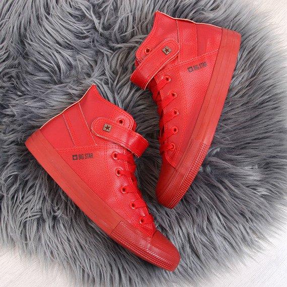 Czerwone trampki na rzep Big Star  V274529