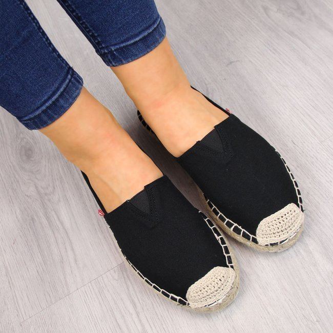 Espadryle damskie slip on czarne Big Star FF274A498