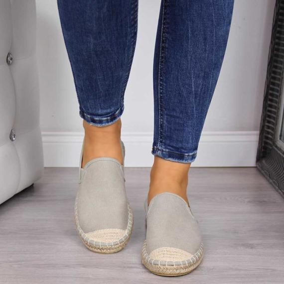Espadryle damskie wsuwane beżowe Cross Jeans