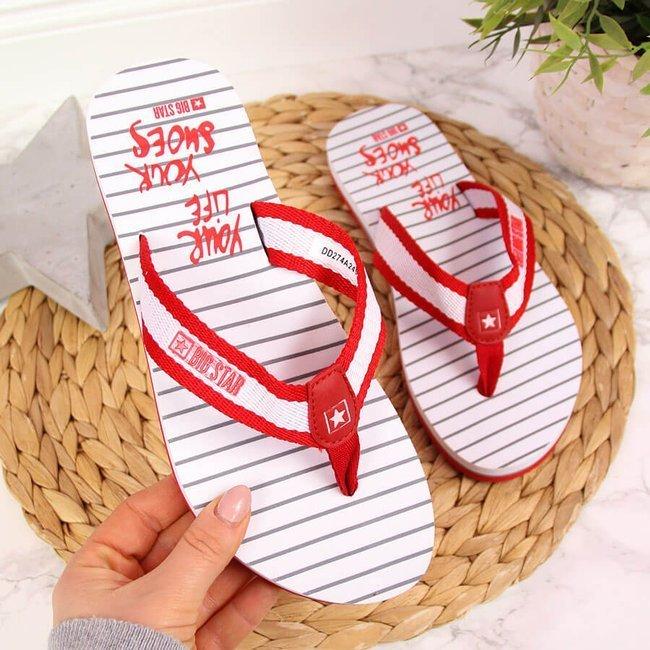 Japonki damskie plażowe czerwone Big Star DD274A249