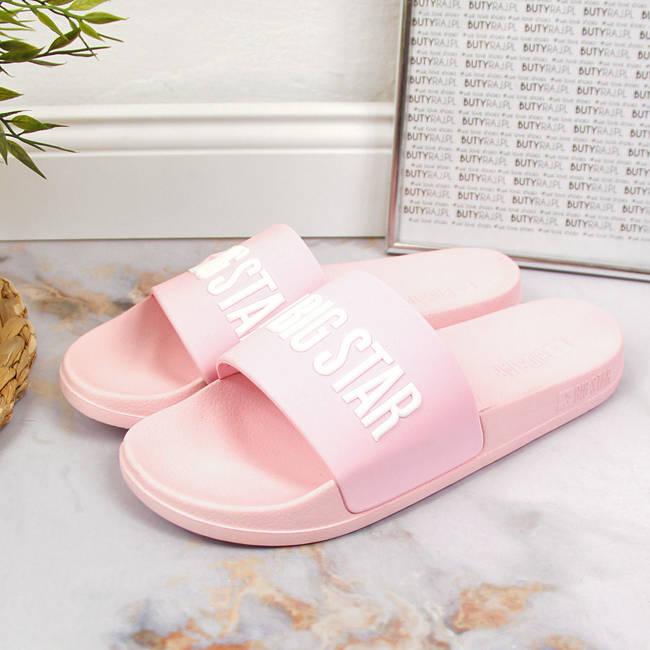 Klapki damskie basenowe różowe Big Star FF274A201