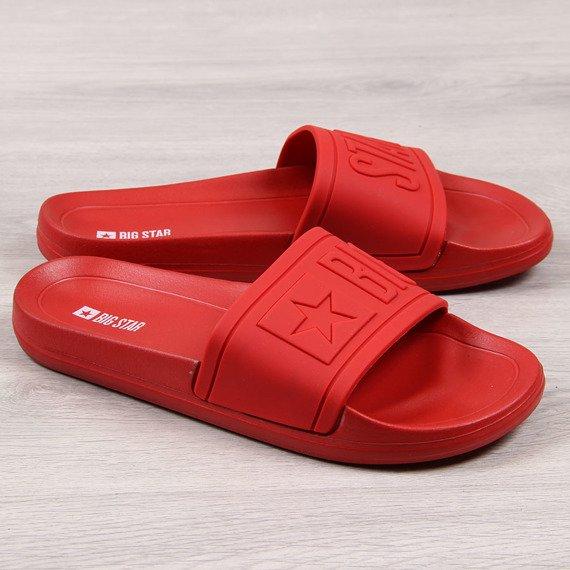 Klapki dziecięce plażowe gumowe czerwone Big Star DD374156