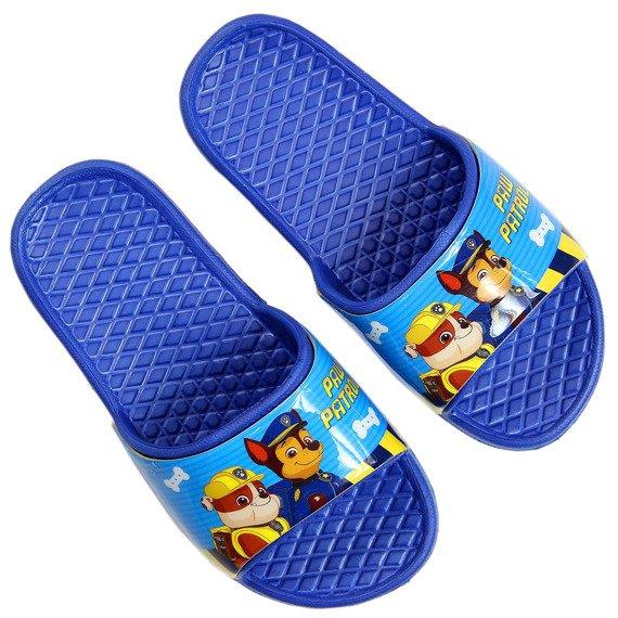 Klapki dziecięce plażowe niebieskie Psi Patrol
