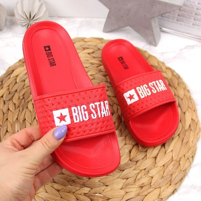 Klapki dziecięce sportowe basenowe czerwone Big Star GG374801