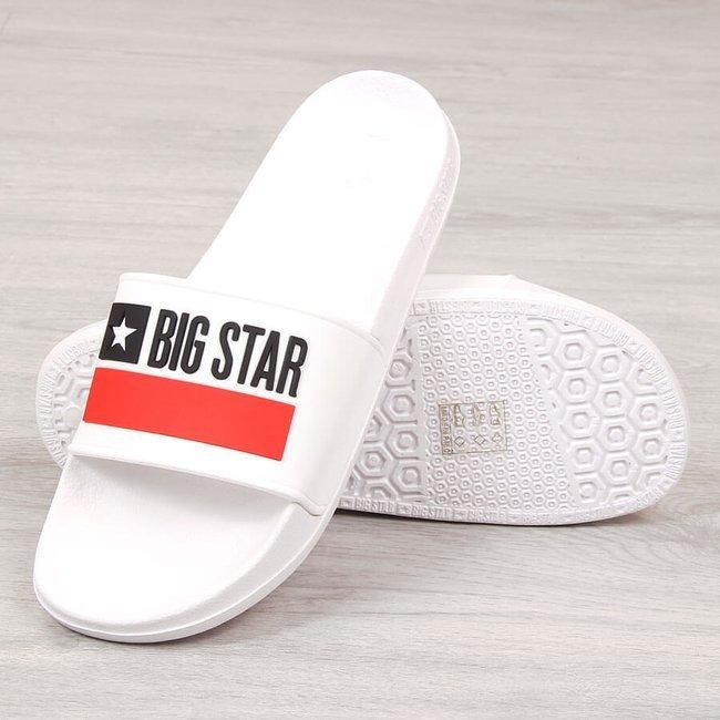 Klapki męskie gumowe plażowe białe Big Star GG174938