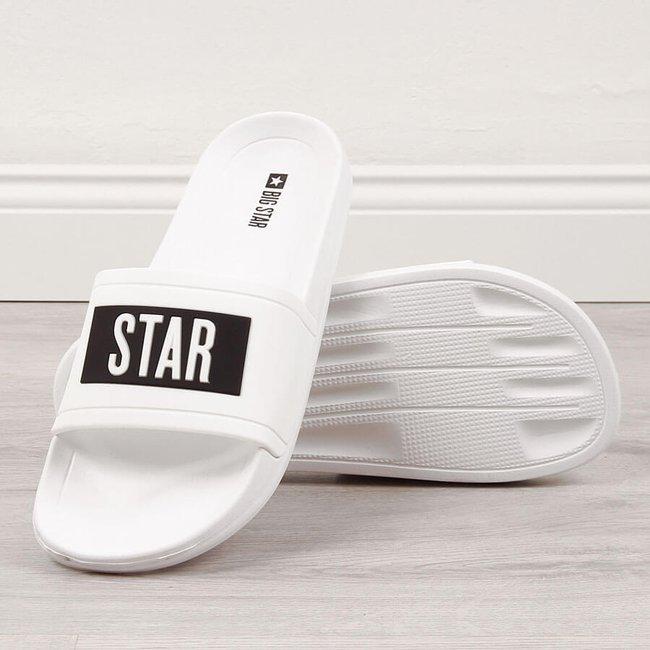 Klapki męskie plażowe basenowe białe Big Star DD174700