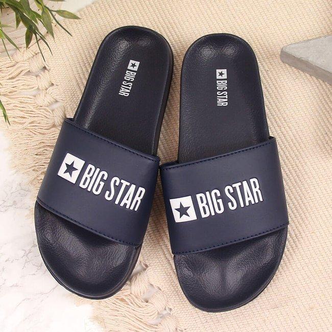 Klapki plażowe basenowe granatowe Big Star GG274A043