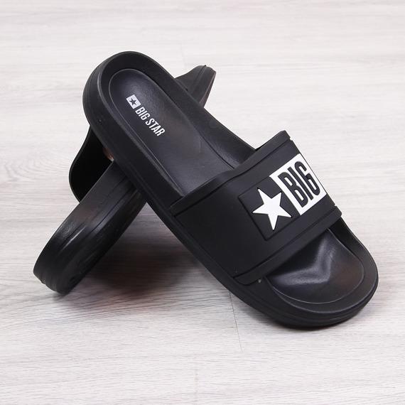 Klapki plażowe gumowe czarne Big Star DD274A266