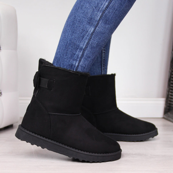 Mukluki damskie ocieplane czarne Cross Jeans