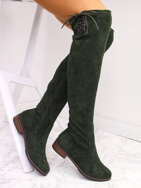 Muszkieterki damskie ocieplane zielone Jezzi