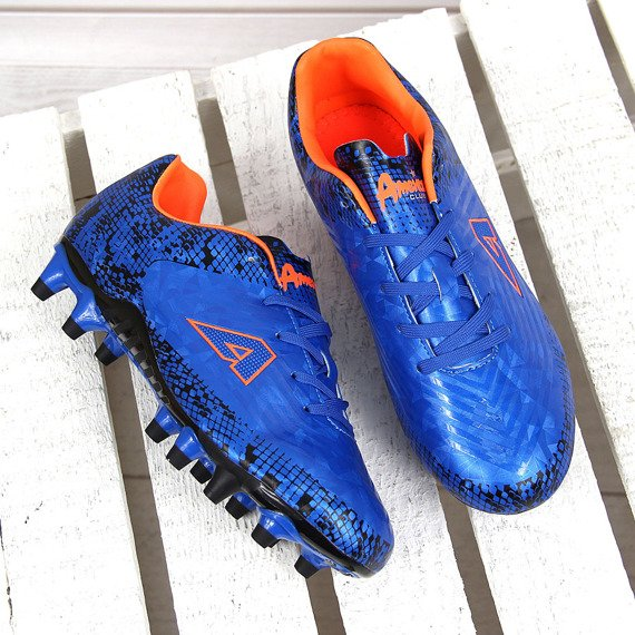Niebieskie korki piłkarskie chłopięce American Club
