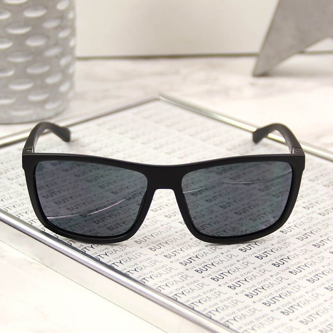 Okulary przeciwsłoneczne męskie etui czarne Big Star Z74060