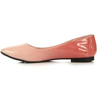 Różowe baleriny damskie ombre W.Potocki