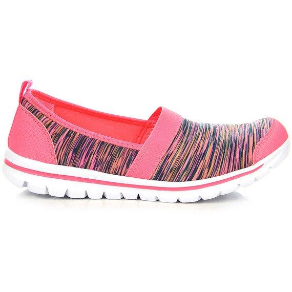 Różowe buty sportowe wsuwane fitness American Club