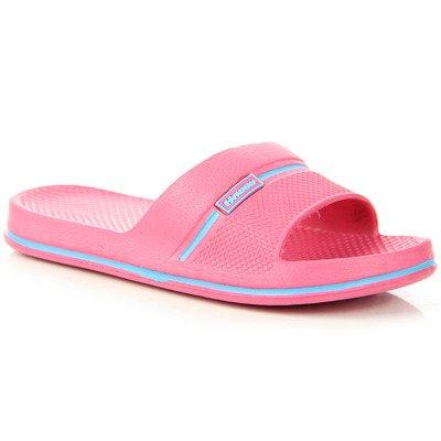 Różowe klapki dziewczęce gumowe basenowe Hasby