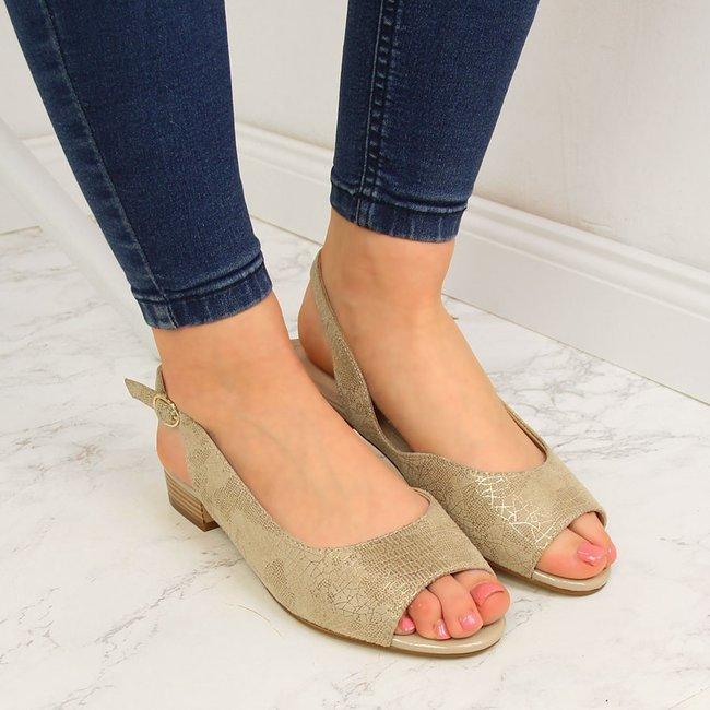 Sandały damskie beżowe Sergio Leone