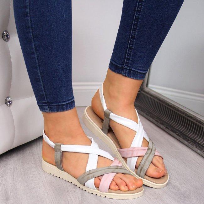 Sandały damskie skórzane wsuwane El Pimpi