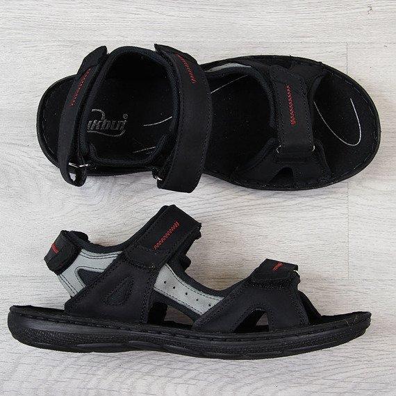 Sandały męskie skórzane na rzepy Łukbut 991