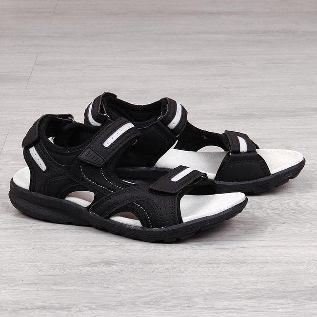 Sandały sportowe na rzepy czarne American Club