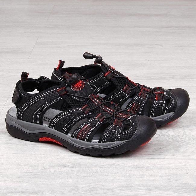 Sandały sportowe zabudowane czarne American Club